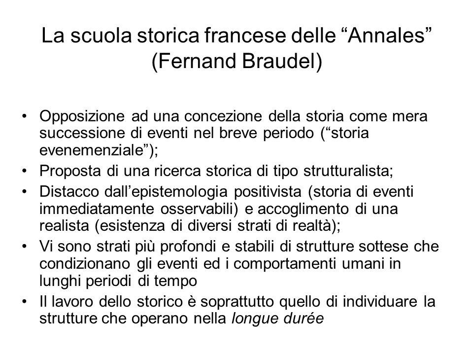 La scuola storica francese delle Annales (Fernand Braudel)