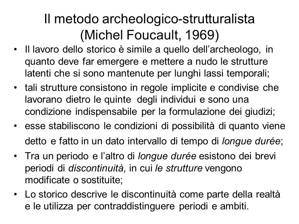 Il metodo archeologico-strutturalista (Michel Foucault, 1969)