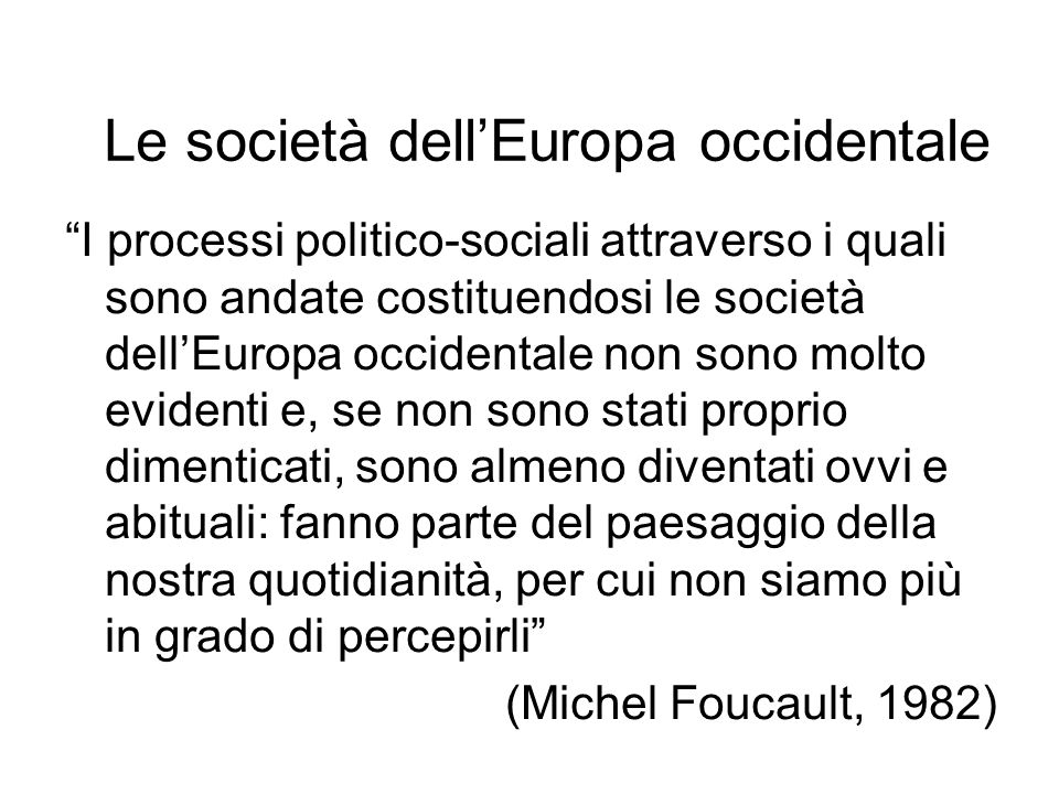 Le società dell'Europa occidentale