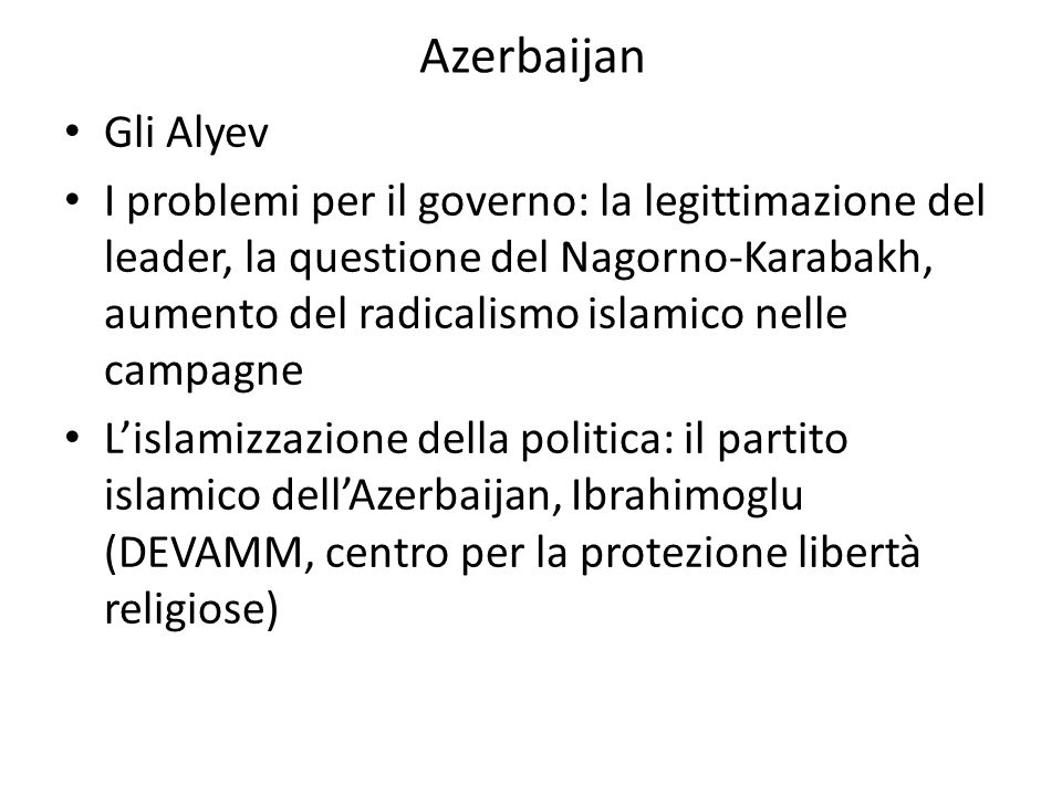Azerbaijan Gli Alyev.
