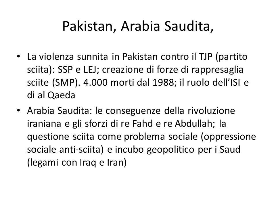 Pakistan, Arabia Saudita,