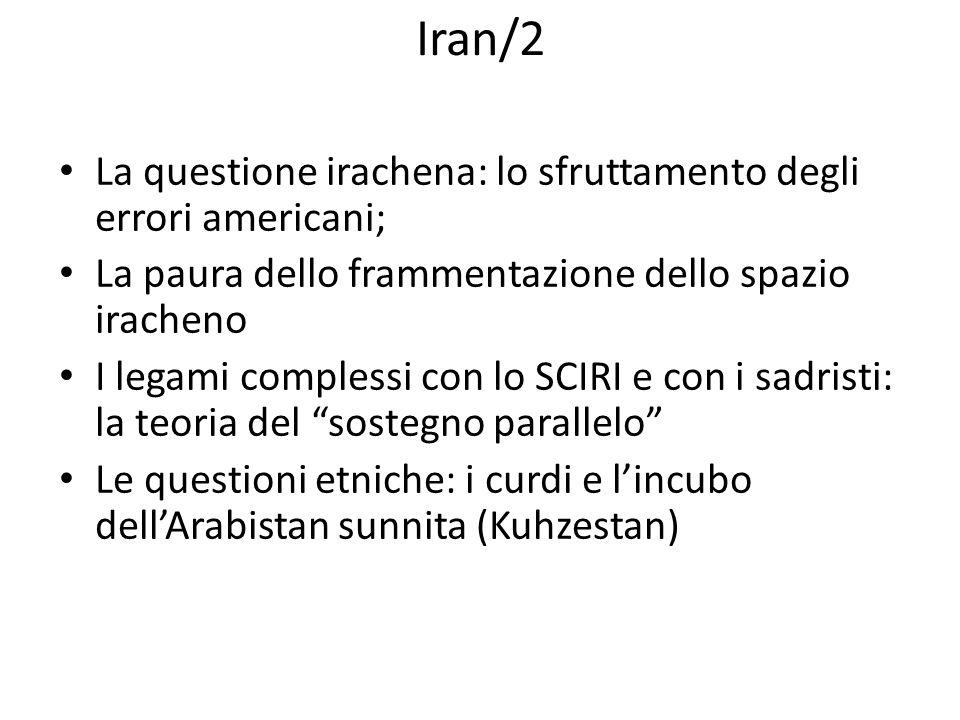 Iran/2 La questione irachena: lo sfruttamento degli errori americani;