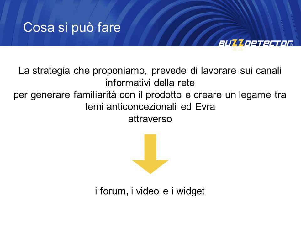 i forum, i video e i widget