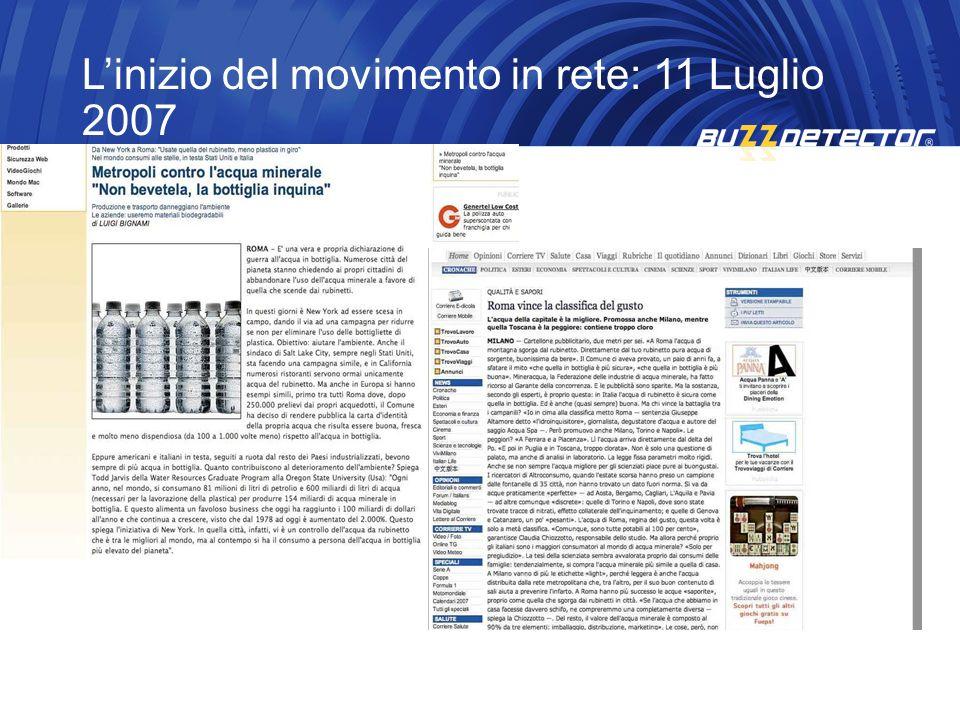 L'inizio del movimento in rete: 11 Luglio 2007