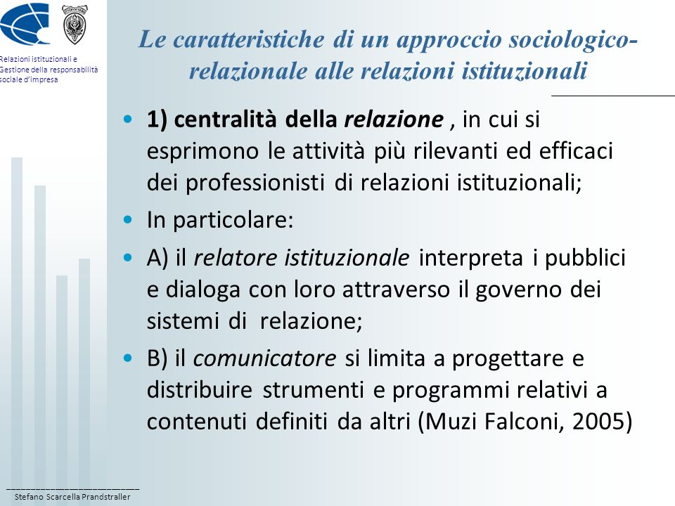 Le caratteristiche di un approccio sociologico-relazionale alle relazioni istituzionali