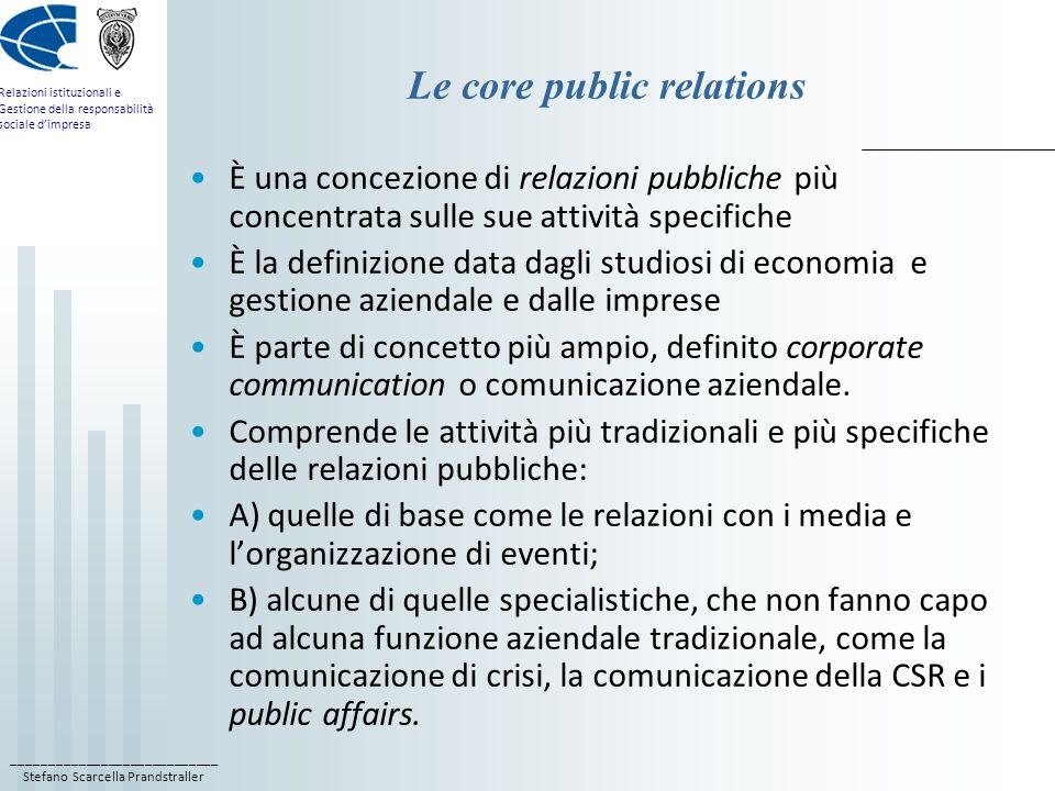 Le core public relations