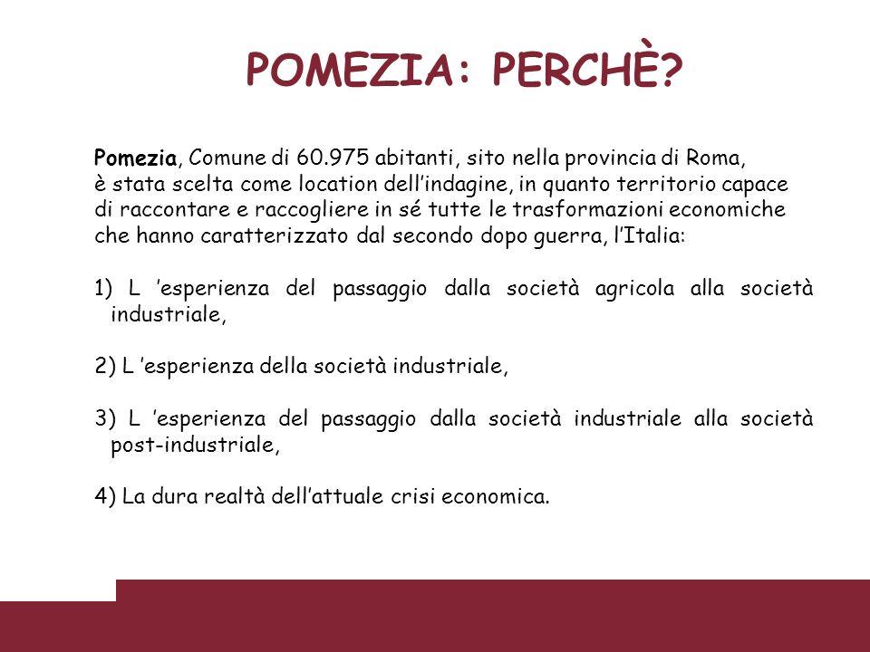 POMEZIA: PERCHÈ Pomezia, Comune di 60.975 abitanti, sito nella provincia di Roma,