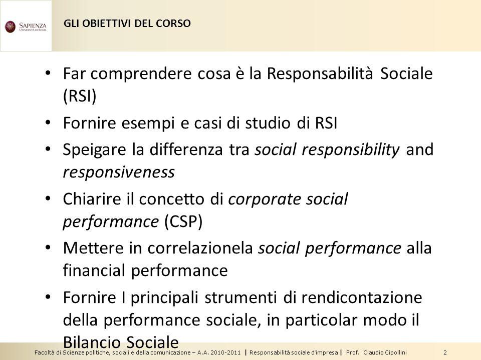 Far comprendere cosa è la Responsabilità Sociale (RSI)