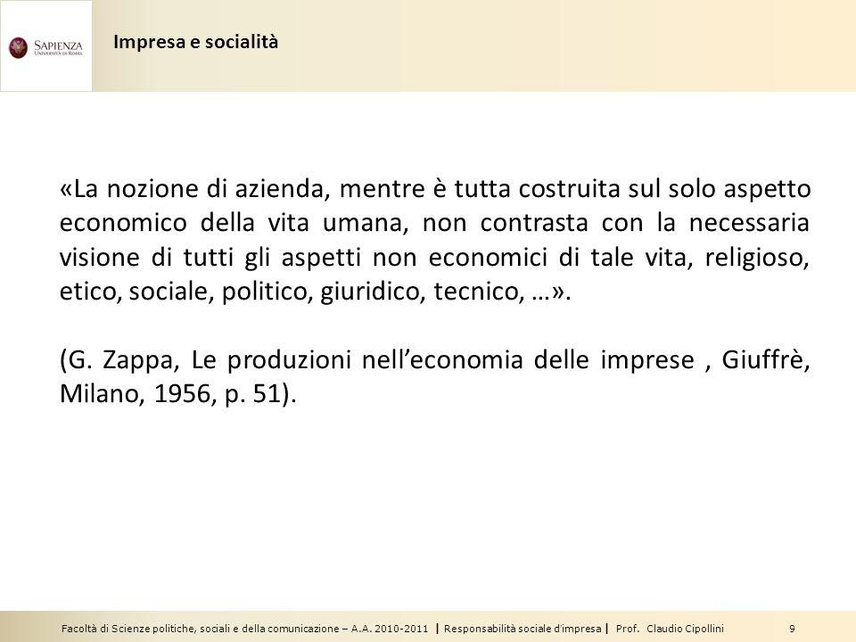 Impresa e socialità