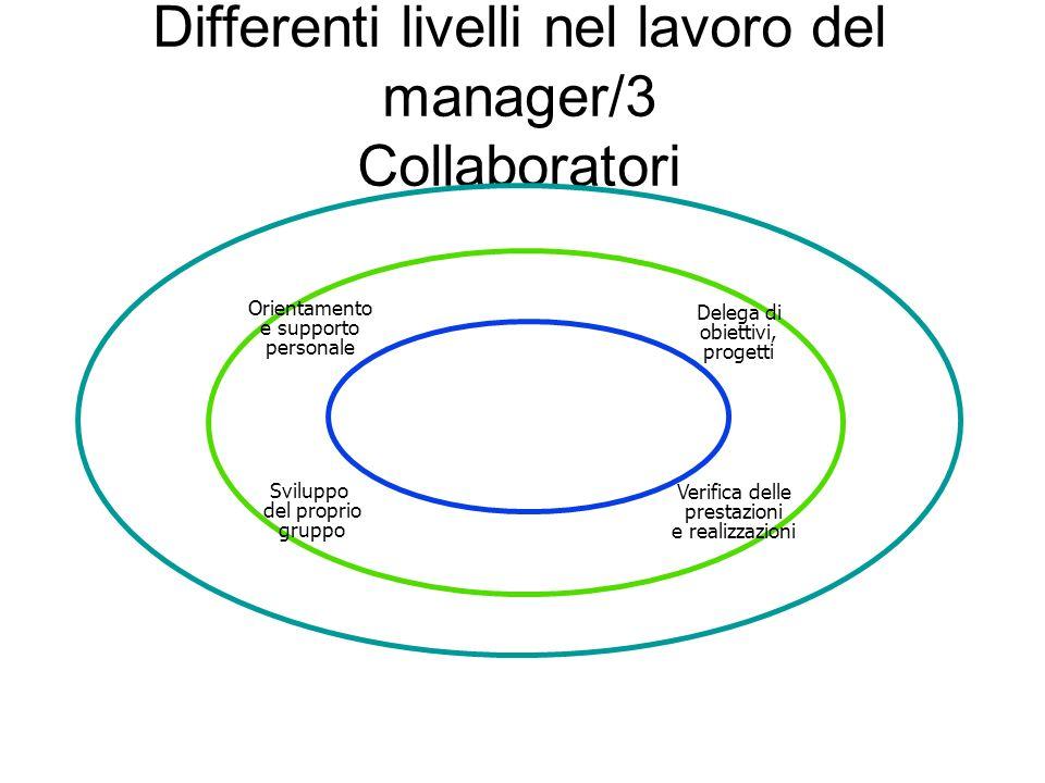 Differenti livelli nel lavoro del manager/3 Collaboratori