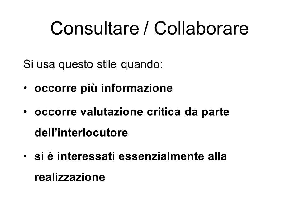 Consultare / Collaborare
