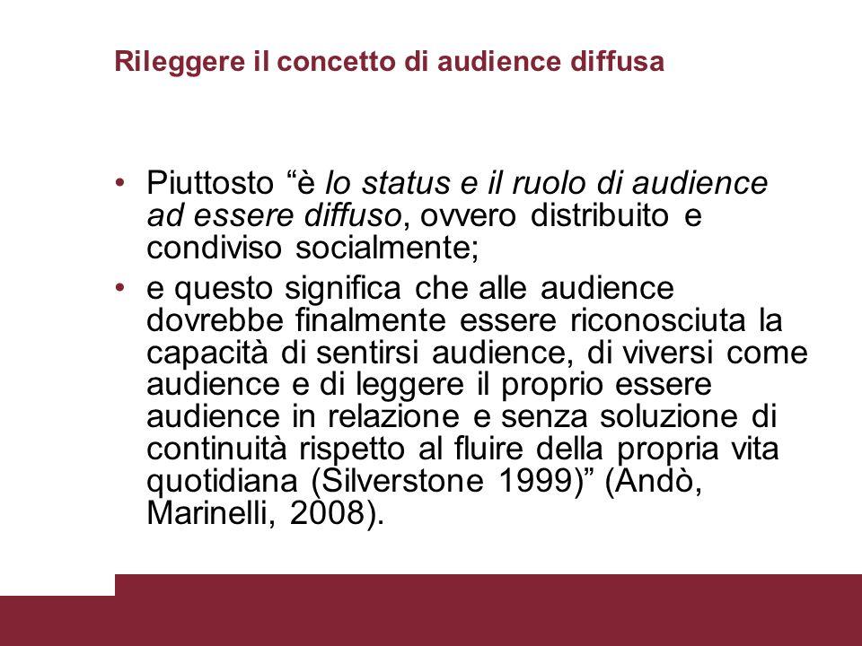 Rileggere il concetto di audience diffusa