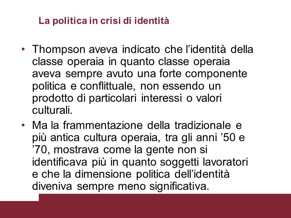 La politica in crisi di identità