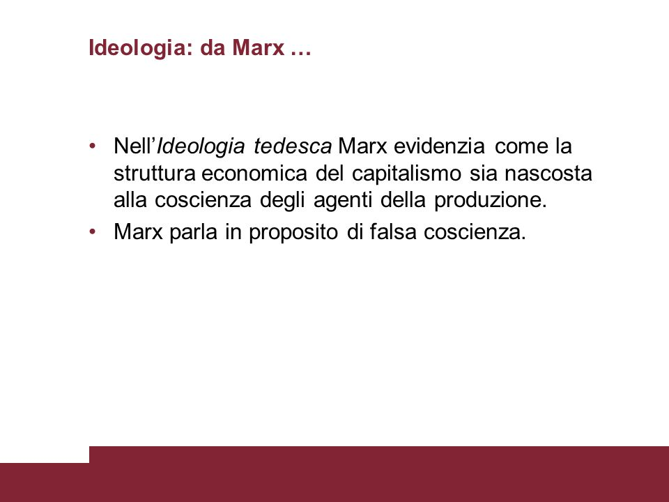 Ideologia: da Marx …