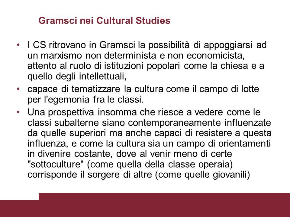Gramsci nei Cultural Studies