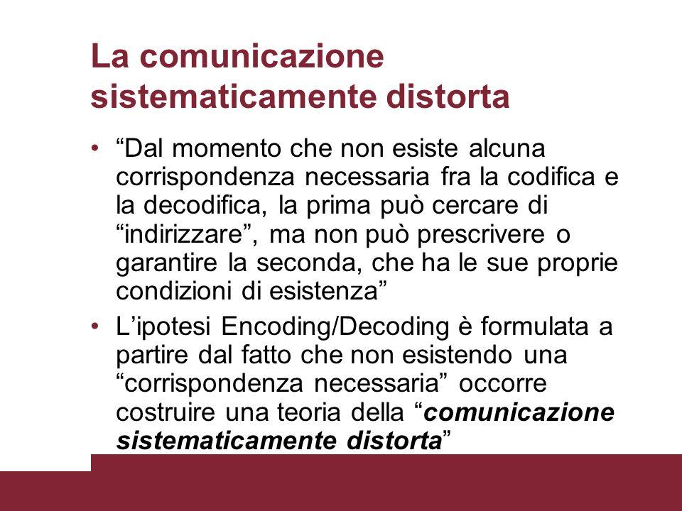 La comunicazione sistematicamente distorta