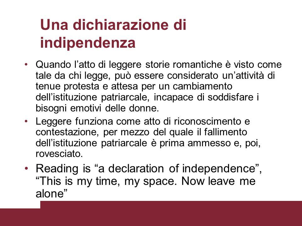 Una dichiarazione di indipendenza