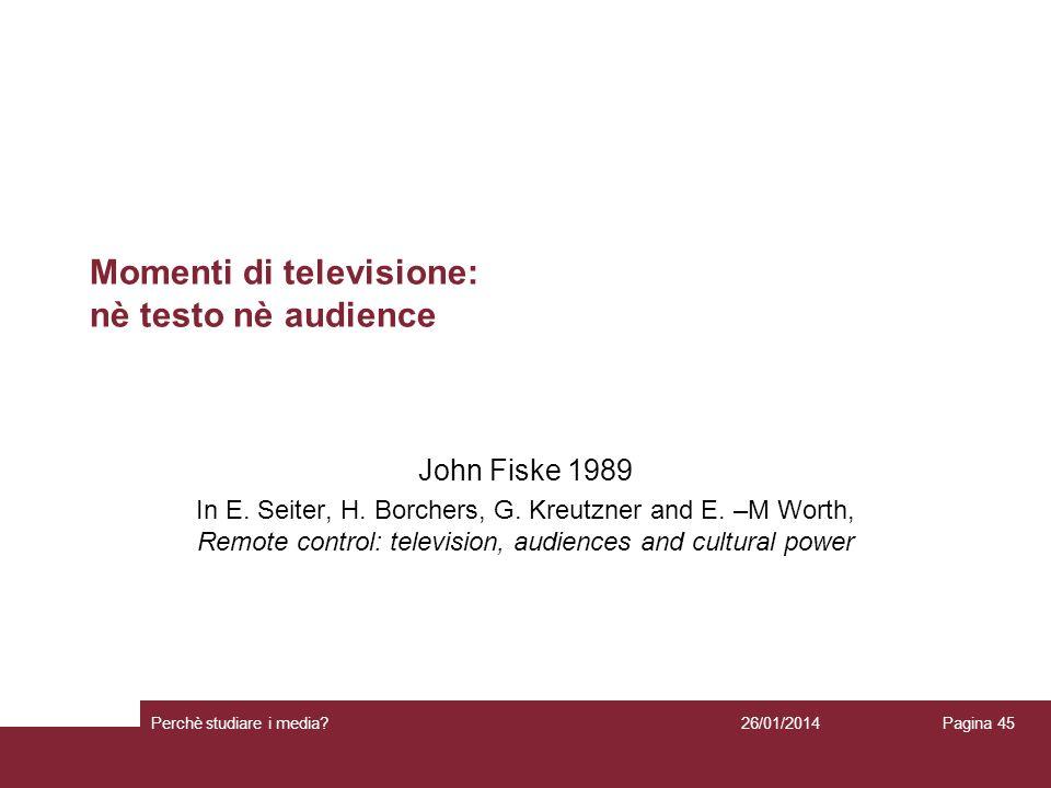 Momenti di televisione: nè testo nè audience