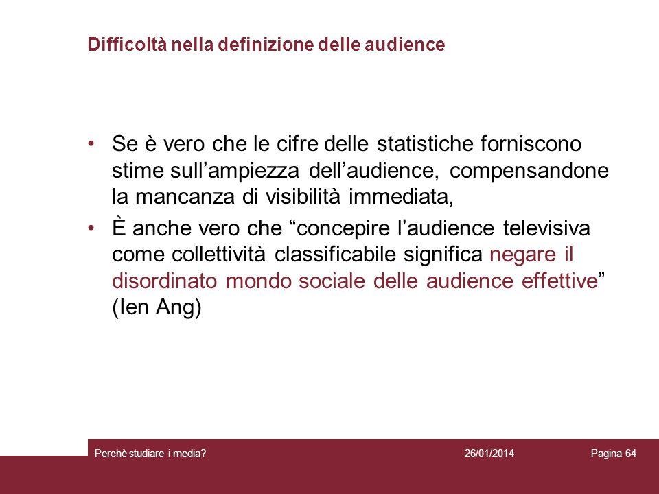 Difficoltà nella definizione delle audience