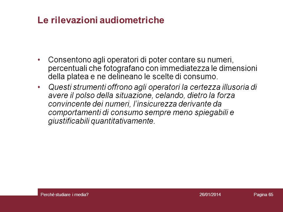 Le rilevazioni audiometriche