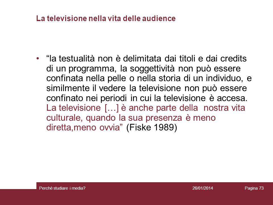 La televisione nella vita delle audience