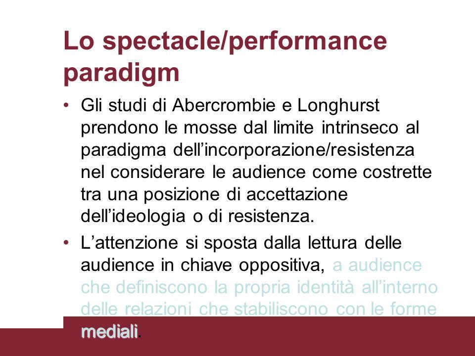 Lo spectacle/performance paradigm