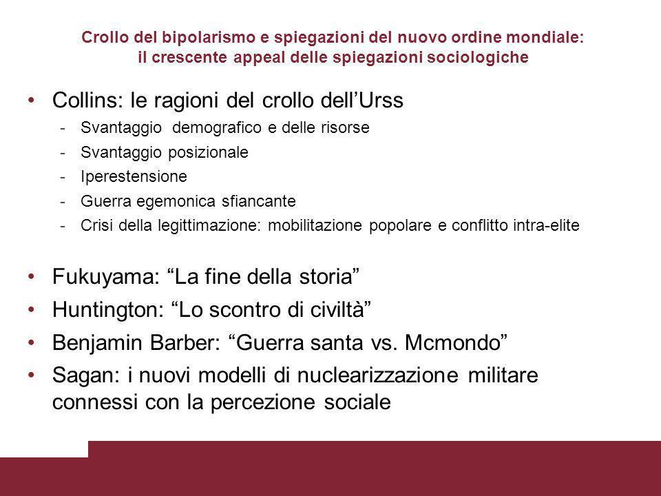 Collins: le ragioni del crollo dell'Urss
