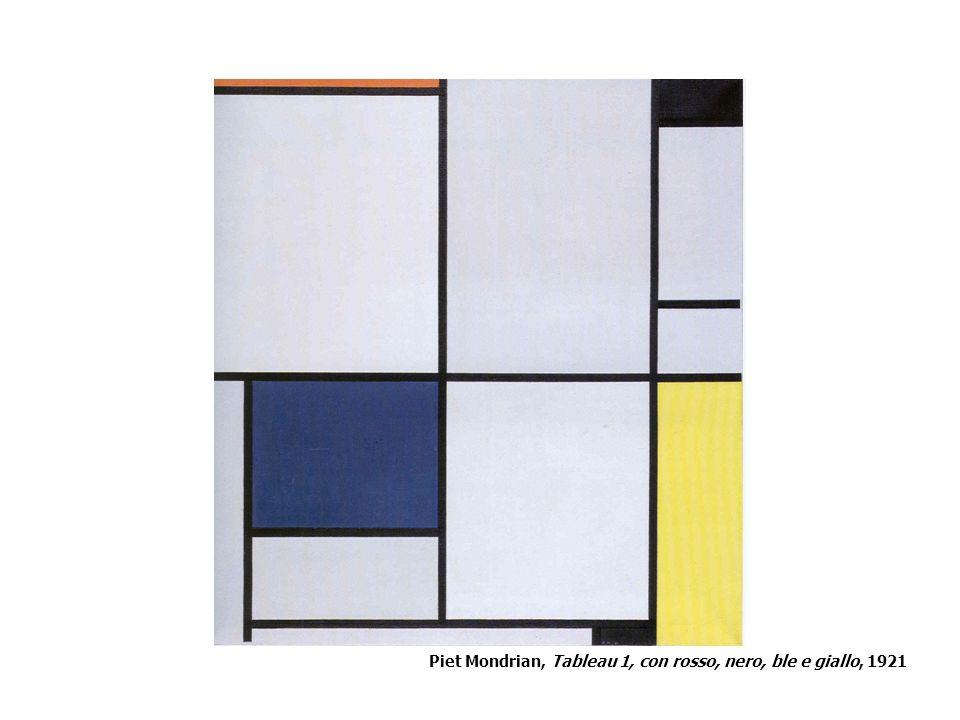 Piet Mondrian, Tableau 1, con rosso, nero, ble e giallo, 1921