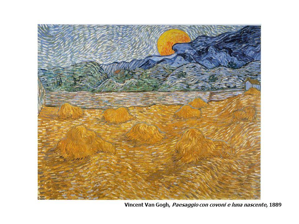 Vincent Van Gogh, Paesaggio con covoni e luna nascente, 1889