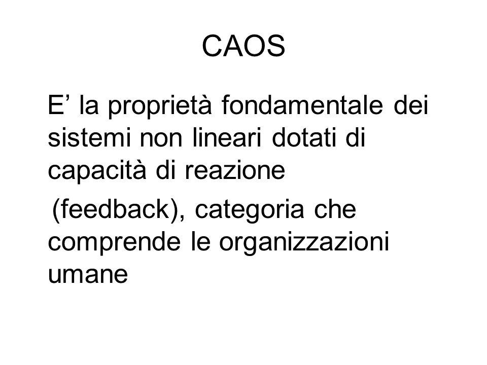 CAOS (feedback), categoria che comprende le organizzazioni umane
