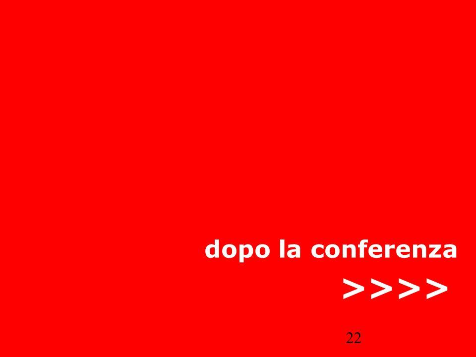 dopo la conferenza >>>>