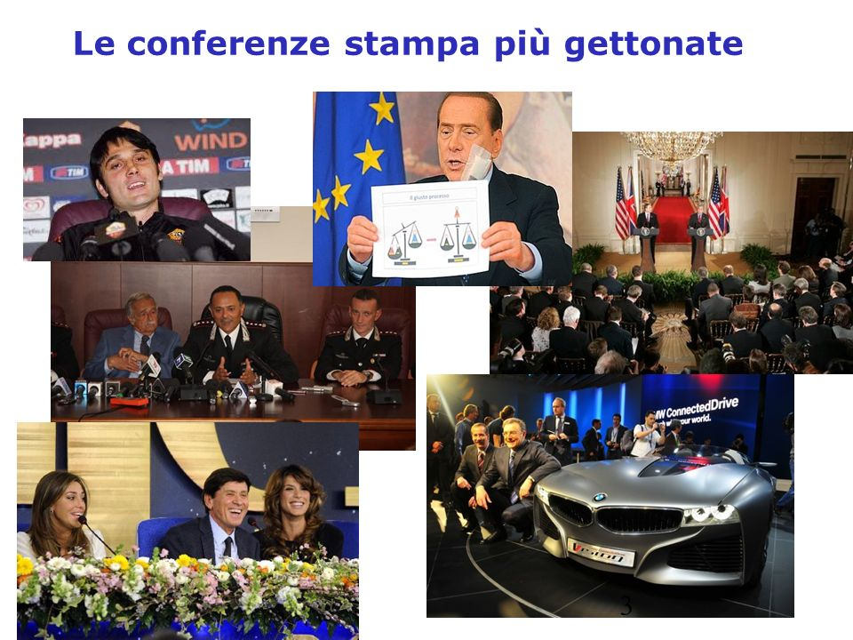 Le conferenze stampa più gettonate