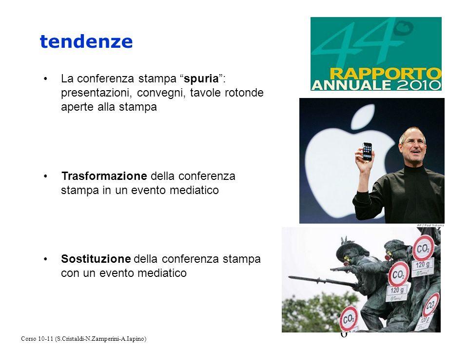 tendenze La conferenza stampa spuria : presentazioni, convegni, tavole rotonde aperte alla stampa.