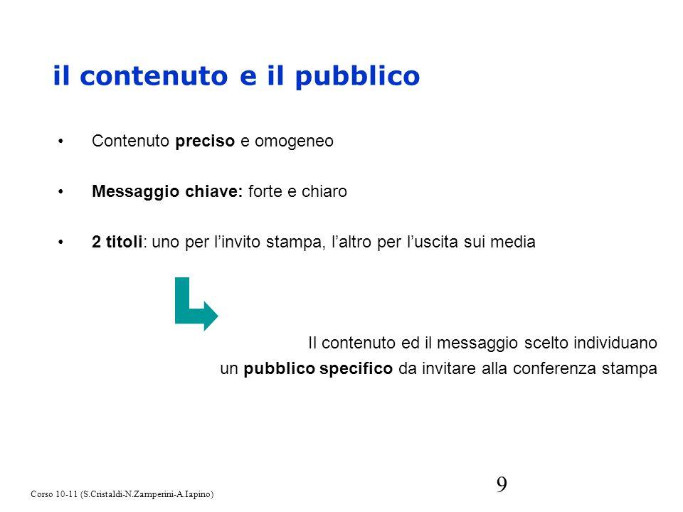 il contenuto e il pubblico