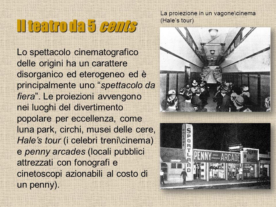 Il teatro da 5 cents La proiezione in un vagone\cinema (Hale's tour)