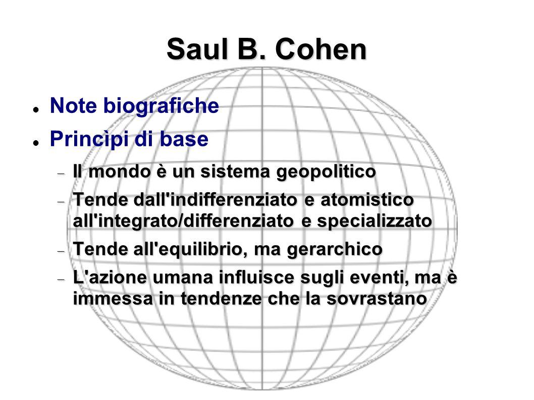 Saul B. Cohen Note biografiche Princìpi di base