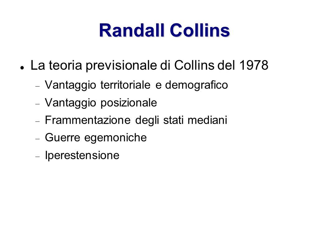 Randall Collins La teoria previsionale di Collins del 1978