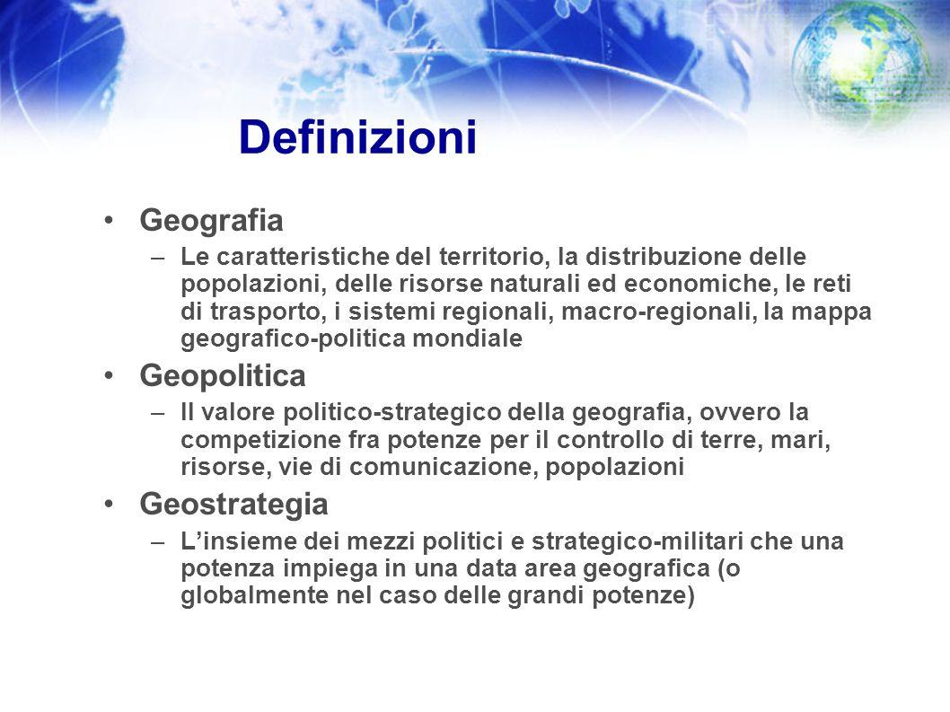 Definizioni Geografia Geopolitica Geostrategia