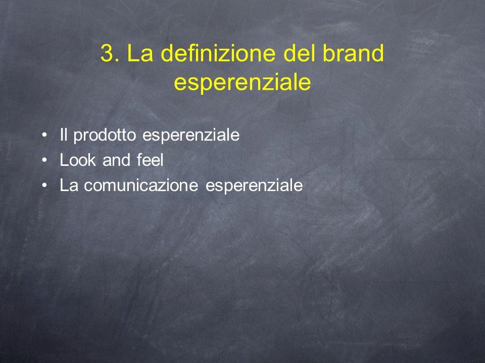 3. La definizione del brand esperenziale