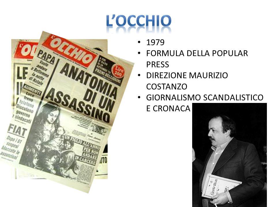 L'OCCHIO 1979 FORMULA DELLA POPULAR PRESS DIREZIONE MAURIZIO COSTANZO