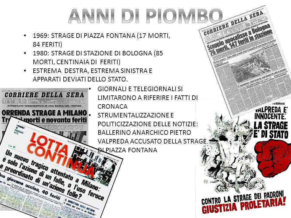 ANNI DI PIOMBO 1969: STRAGE DI PIAZZA FONTANA (17 MORTI, 84 FERITI)