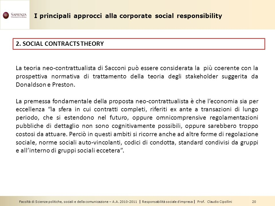 2. SOCIAL CONTRACTS THEORY