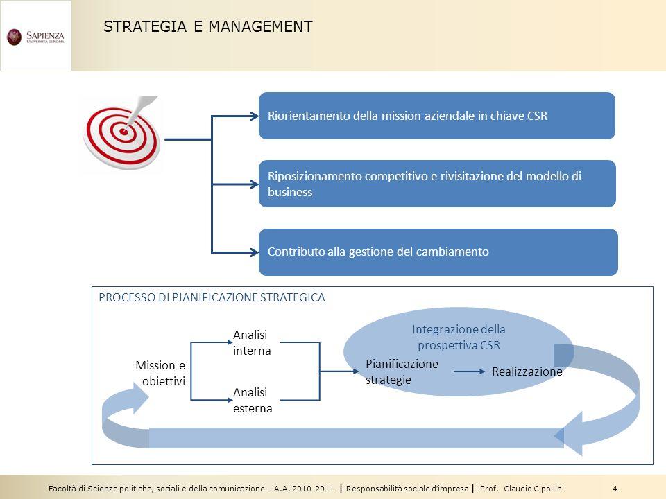Integrazione della prospettiva CSR