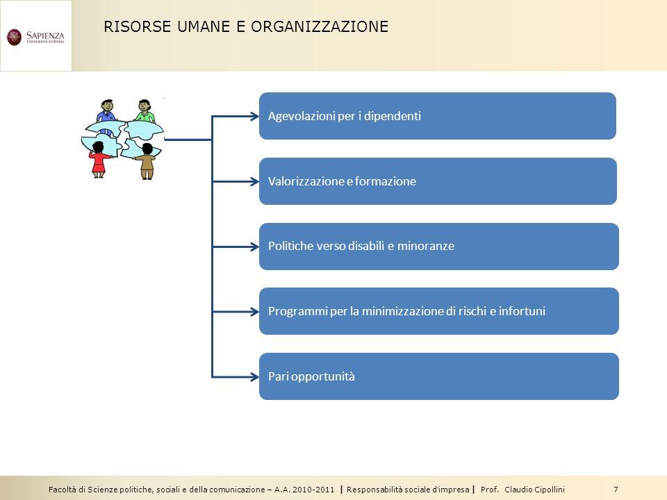 RISORSE UMANE E ORGANIZZAZIONE
