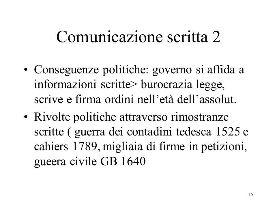 Comunicazione scritta 2