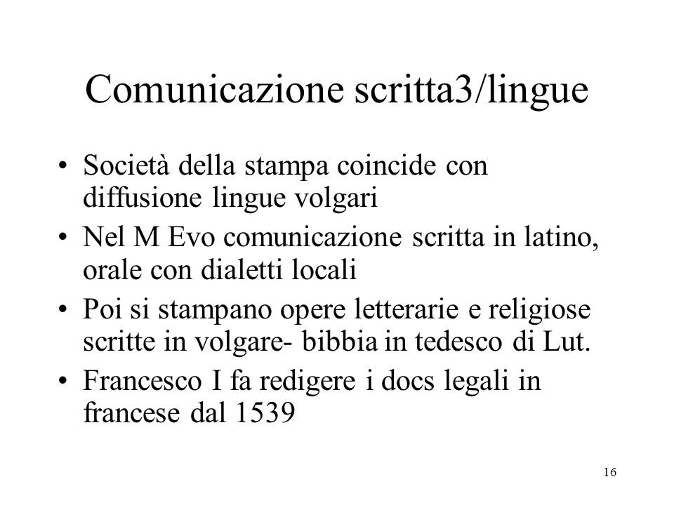 Comunicazione scritta3/lingue