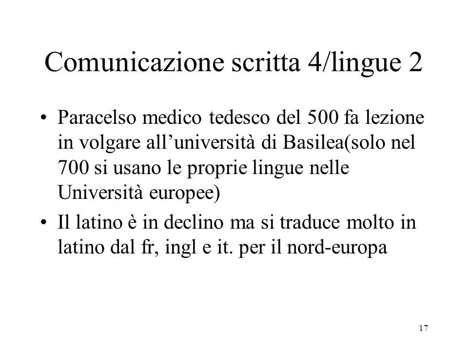 Comunicazione scritta 4/lingue 2