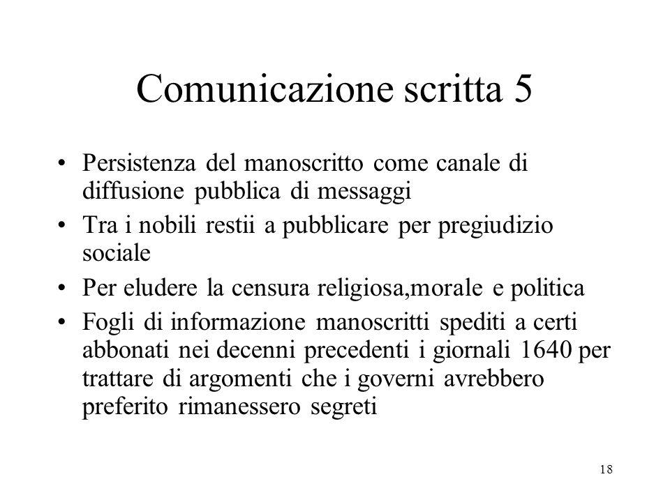 Comunicazione scritta 5