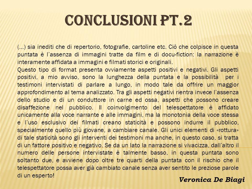 CONCLUSIONI pt.2 Veronica De Biagi