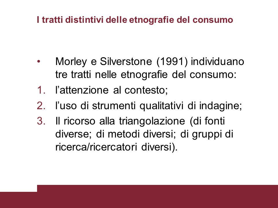 I tratti distintivi delle etnografie del consumo